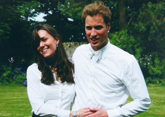 ST ANDEWS, SCOTLAND - JUNE 23: (NO SALES) In this Handout Image provided by Clarence House www.officialroyalwedding2011.org, Kate Middleton and Prince William on the day of their graduation ceremony at St Andrew's University in St Andrew's on June 23, 2005 in Scotland. (Photo by the Middleton Family/Clarence House via GettyImages)