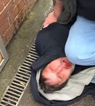 Man jailed for biting off the tip of a paedophile hunter's finger. Thomas De-Castle-Lynne