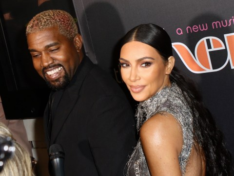 Kanye West flashes rare smile as Kim Kardashian shares family portrait – but sassy Chicago steals the show