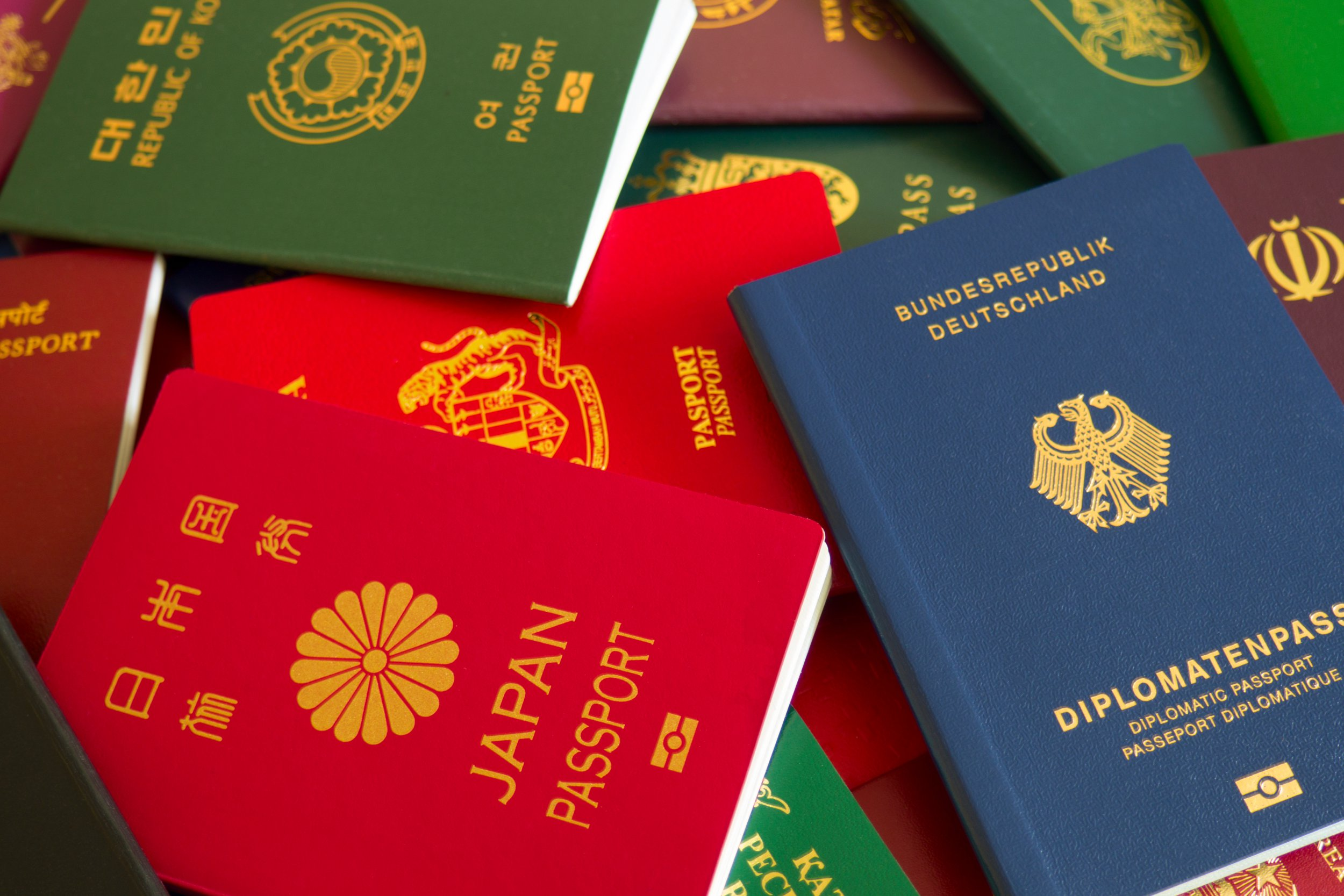 Various passports of citizens of many countries and regions of the world; Shutterstock ID 1079350283; Purchase Order: -