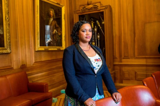 FILE PHOTO Lord Mayor of Bristol, Cllr Cleo Lake, had the portrait of prominent slave trader Edward Colston removed from her office. See SWNS story SWBRart; Black mayor removes Gainsborough painting from her office - because of its links to slave trade. A black Lord Mayor has removed a highly-valuable Gainsborough painting from her office - over its links to the slave trade. Cleo Lake says she does not think the portrait of Lord Nugent should adorn the walls of City Hall in Bristol. In the portrait the 18th century aristocrat politician is depicted holding the 1750 Act of Parliament. It dissolved the Royal Africa Company and transferred its assets to the African Company of Merchants - the slave trading posts that existed in what is now Ghana. This was an important step in turning the transatlantic slave trade from a lucrative one for Bristol merchants into a trade that took place on an industrial scale. Cllr Lake has replaced the portrait hanging and replaced it with a painting of a black woman - Henrietta Lacks, created by Bristol artist Helen Wilson-Roe. It is not the first portrait the Lord Mayor of Bristol has removed and replaced. Earlier this year, she took down a portrait of the Bristol slave trader Edward Colston, whose ships transported nearly 100,000 Africans to the Americas.