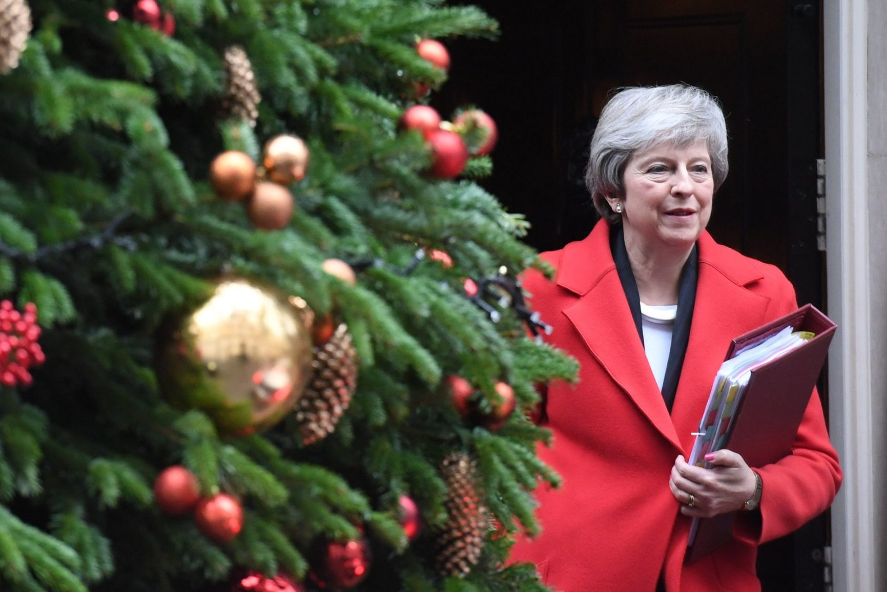 Prime Minister Theresa May leaves 10 Downing Street, London, for the House of Commons to face Prime Minister's Questions. PRESS ASSOCIATION Photo. Picture date: Wednesday December 5, 2018. Photo credit should read: Stefan Rousseau/PA Wire