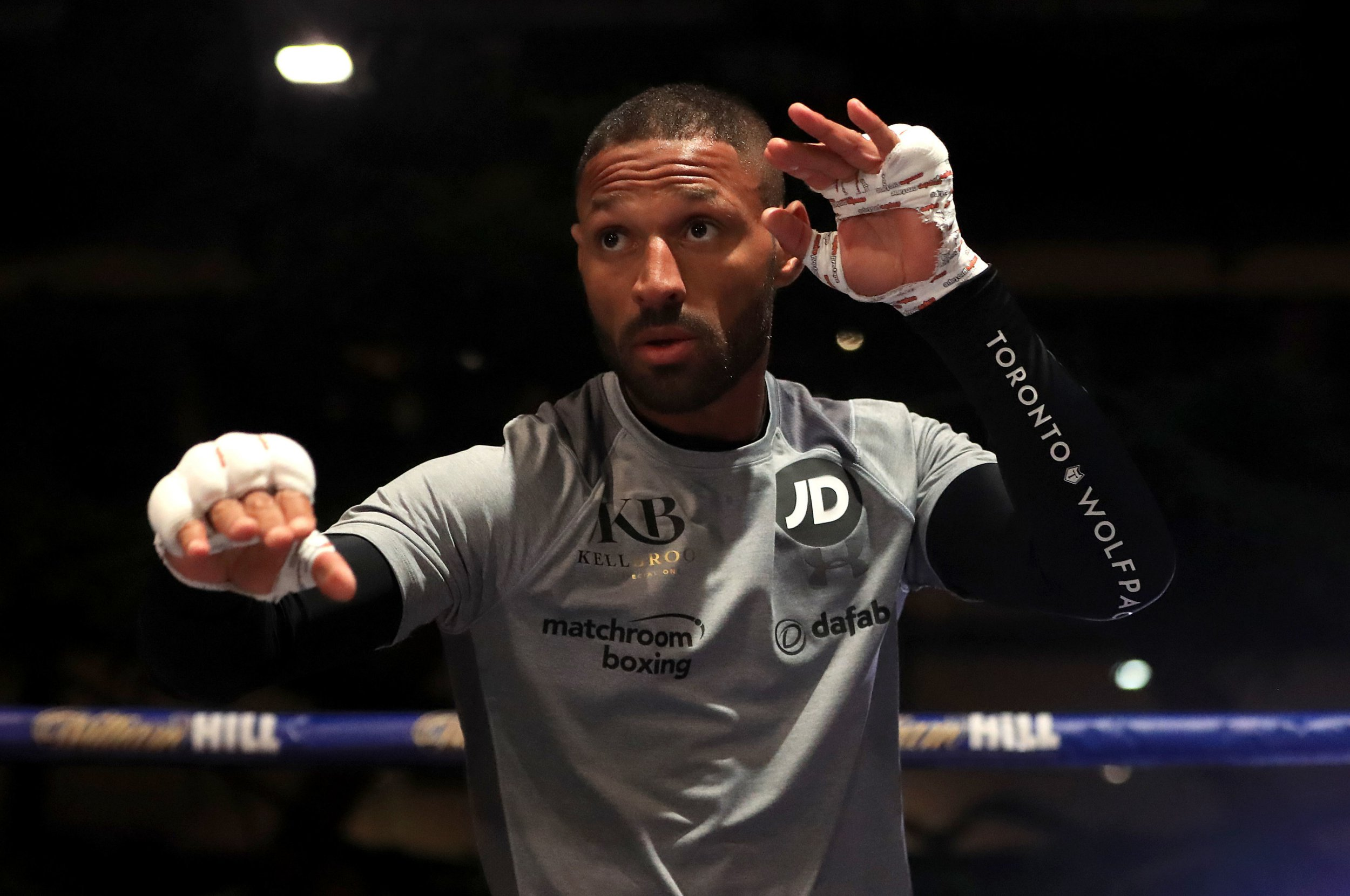 Kell Brook in action during the public workout at Sheffield Winter Garden. PRESS ASSOCIATION Photo. Picture date: Wednesday December 5, 2018. See PA story BOXING Sheffield. Photo credit should read: Simon Cooper/PA Wire
