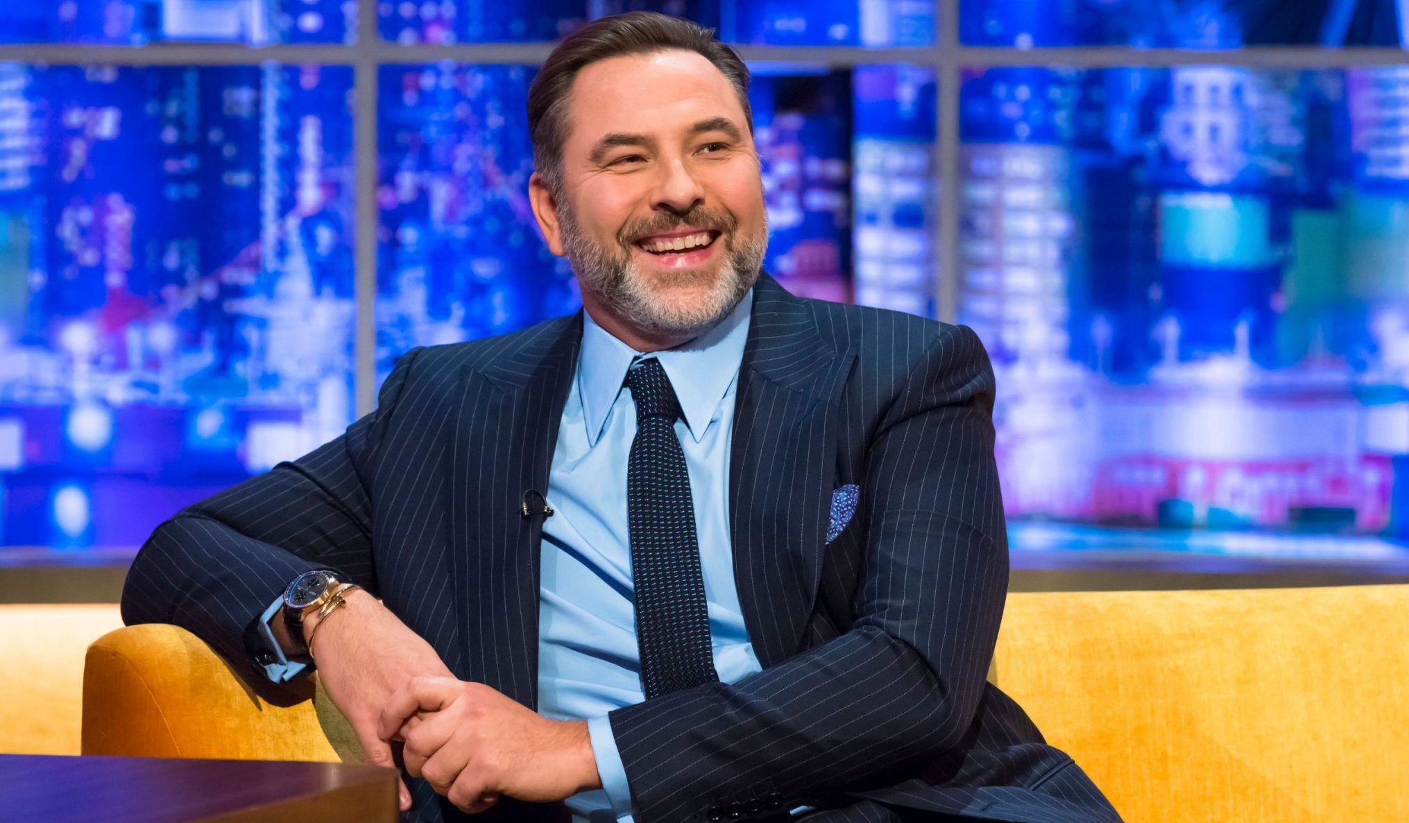 STRICT EMBARGO - NO USE BEFORE 00:01 FRIDAY 07 DEC 2018 - Mandatory Credit: Brian J Ritchie/Hotsauce Editorial Use Only Mandatory Credit: Photo by Brian J Ritchie/Hotsauce/REX (10015023au) David Walliams 'The Jonathan Ross Show', TV show, Series 13, Episode 13, London, UK - 08 Dec 2018