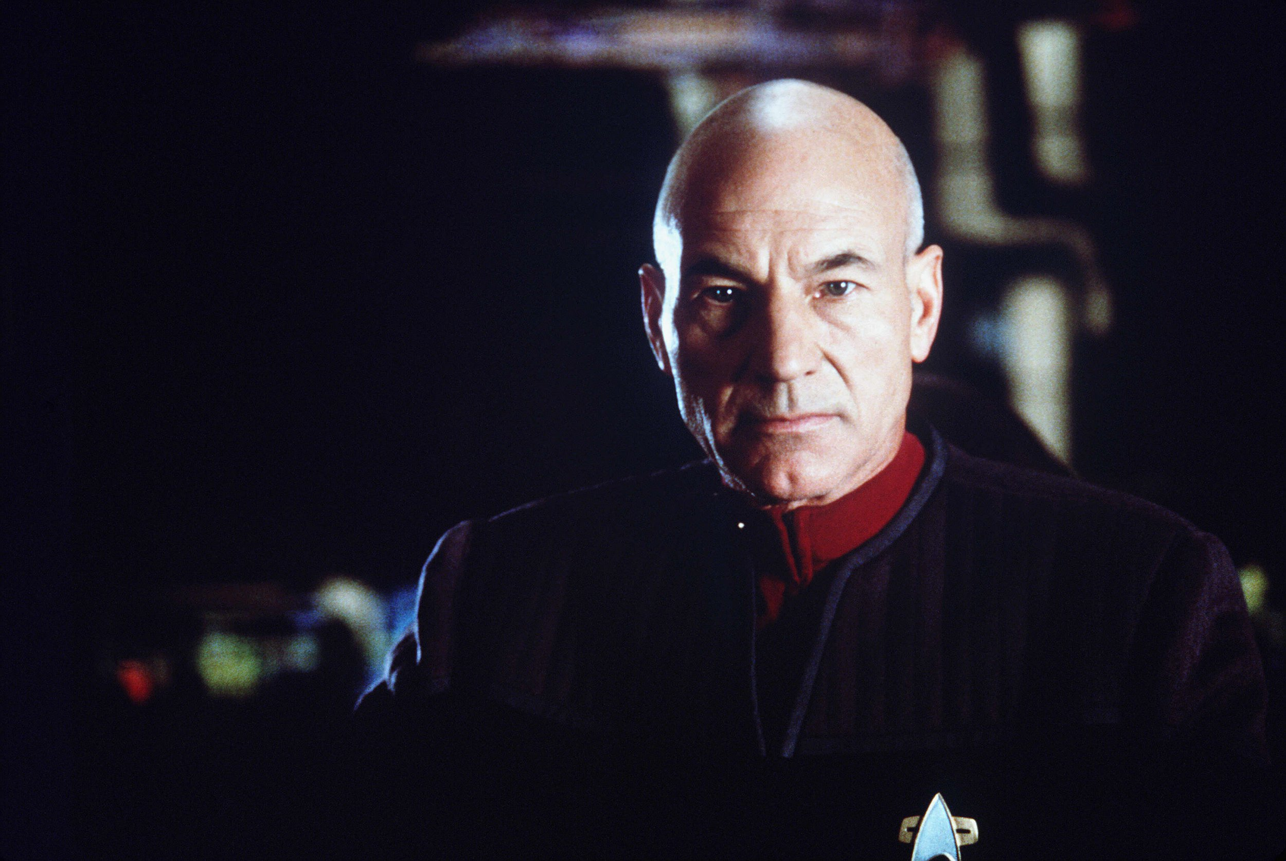 Editorial use only. No book cover usage. Mandatory Credit: Photo by Elliott Marks/Paramount/Kobal/REX/Shutterstock (5878596b) Patrick Stewart Star Trek - First Contact - 1996 Director: Jonathan Frakes Paramount USA Scene Still Scifi Star Trek: Premier contact