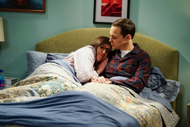 """The Reclusive Potential"" - Pictured: Amy Farrah Fowler (Mayim Bialik) and Sheldon Cooper (Jim Parsons). A brilliant but reclusive scientist, Doctor Wolcott (Peter MacNicol), invites Sheldon to his cabin in the middle of nowhere, and Leonard, Raj and Howard go along for the trip. Also, Penny and Bernadette improvise after Amy doesn\'t like the tame bachelorette party they planned for her, on THE BIG BANG THEORY, Thursday, April 12 (8:00-8:31 PM, ET/PT) on the CBS Television Network. Photo: Sonja Flemming/CBS ????2018 CBS Broadcasting, Inc. All Rights Reserved."