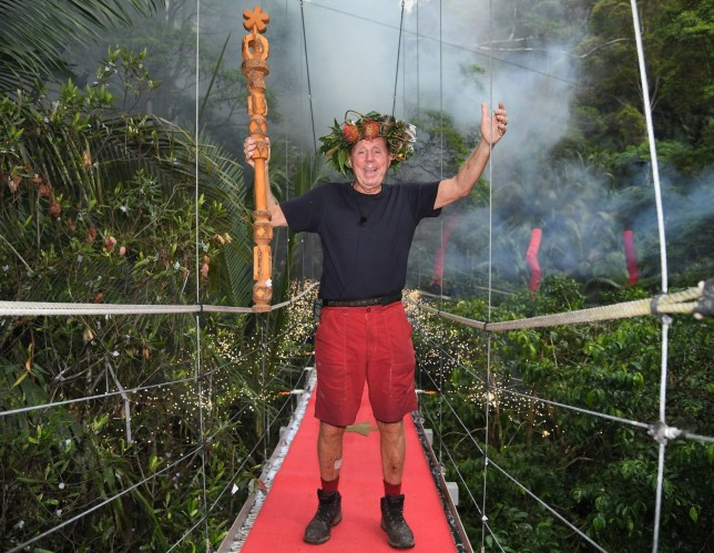 Editorial use only Mandatory Credit: Photo by James Gourley/ITV/REX (10019593c) Harry Redknapp is crowned King of the Jungle 'I'm a Celebrity... Get Me Out of Here!' TV Show, Series 18, Australia - 09 Dec 2018