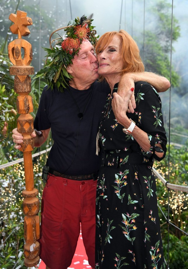 Editorial use only Mandatory Credit: Photo by James Gourley/ITV/REX (10019593i) Harry Redknapp is crowned King of the Jungle and is joined by wife Sandra Redknapp 'I'm a Celebrity... Get Me Out of Here!' TV Show, Series 18, Australia - 09 Dec 2018
