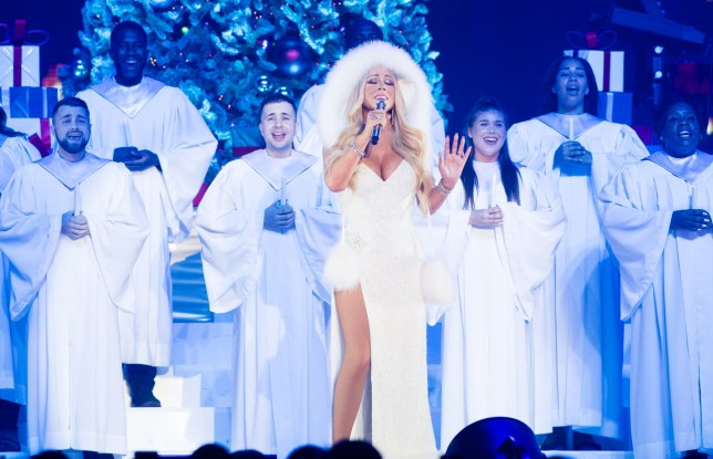 NOTTINGHAM, ENGLAND - DECEMBER 09: Mariah Carey performs live during her All I Want For Christmas Is You tour at Motorpoint Arena on December 09, 2018 in Nottingham, England. (Photo by Samir Hussein/Samir Hussein/WireImage)