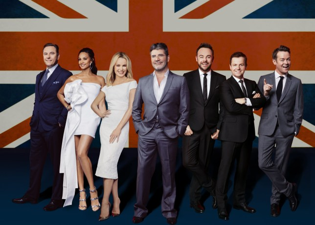 Editorial use only Mandatory Credit: Photo by Austin Hargrave/REX/Shutterstock (8883428f) David Walliams, Alesha Dixon, Simon Cowell, Amanda Holden, Anthony McPartlin and Declan Donnelly and Stephen Mulhern 'Britain's Got Talent' TV show, UK - Jun 2017
