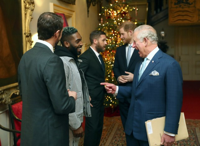 The Prince of Wales and the Duke of Sussex (both right), talk with (left to right) Gareth Southgate, Tinie Tempah and actor Tom Hardy, during a discussion about violent youth crime at a forum held at Clarence House in London. PRESS ASSOCIATION Photo. Picture date: Wednesday December 12, 2018. The prince and the duke will also speak with Prince?s Trust Ambassadors, families of victims of youth violent crime, and community groups and practitioners. See PA story ROYAL Crime. Photo credit should read: Steve Parsons/PA Wire