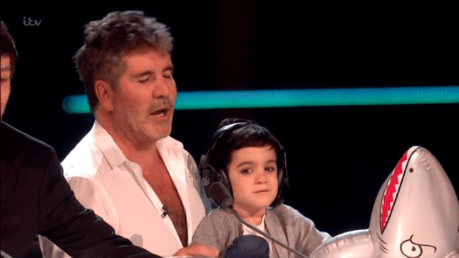 Simon Cowell's son Eric appeared on X Factor (Picture: ITV)