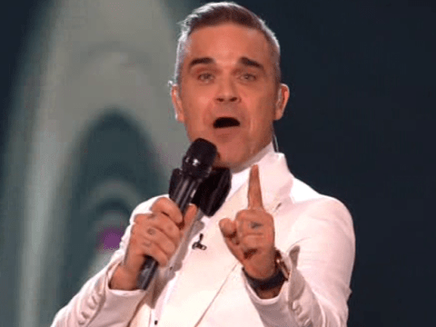 X Factor viewers left in tears as Robbie Williams joins Take That for rare performance