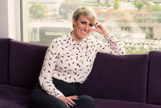 Steph McGovern sitting on a sofa