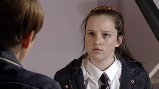 Elle Mulvaney as amy barlow on coronation street