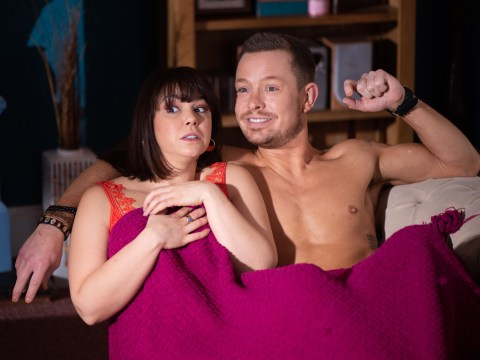 Hollyoaks spoilers: Nancy Osborne and Kyle Kelly caught in passionate embrace