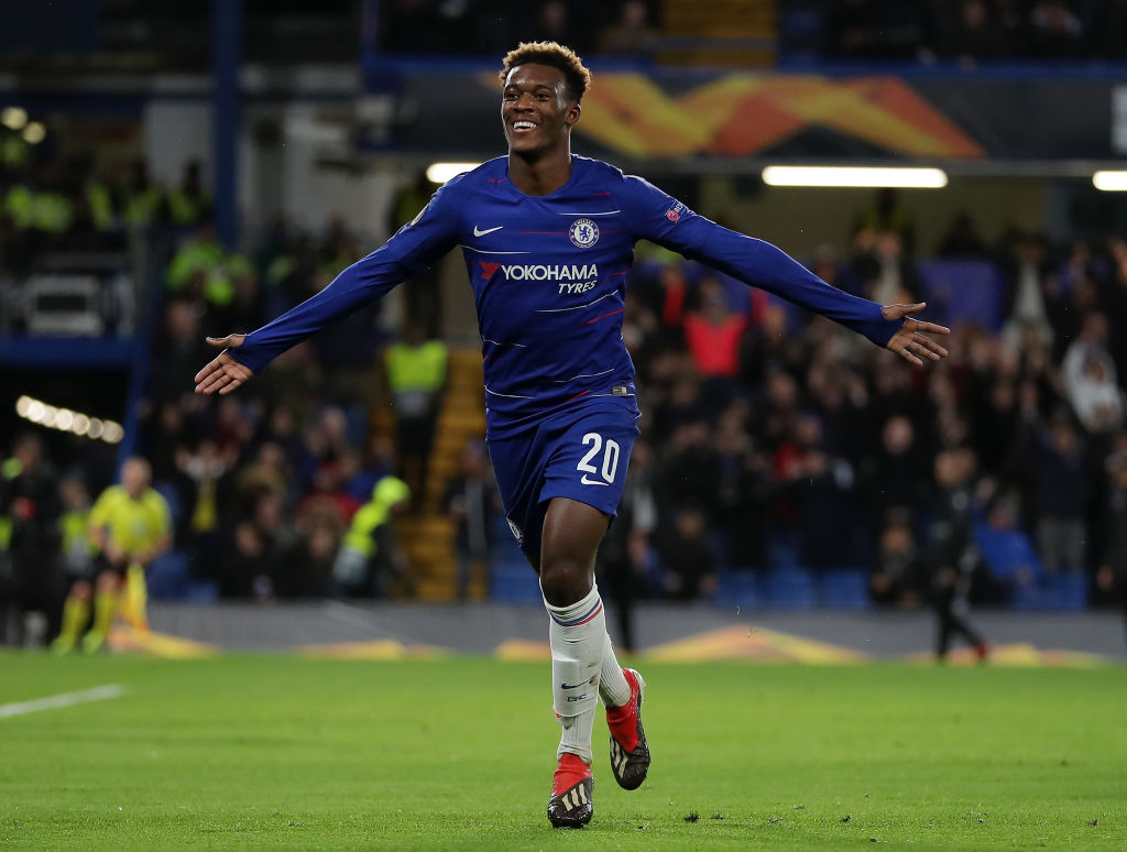 Callum Hudson-Odoi is on the same level as Willian & Pedro, says Maurizio Sarri
