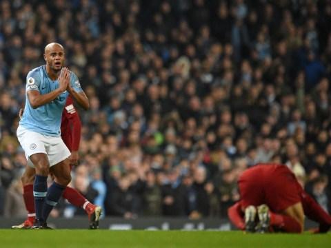 Jurgen Klopp blasts decision not to send off Vincent Kompany in Liverpool's defeat to Man City