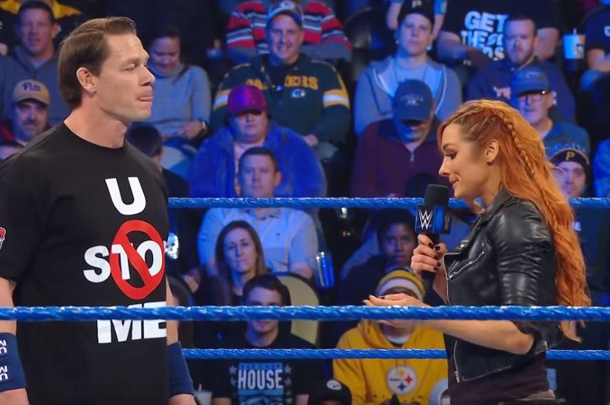 Becky Lynch burns John Cena over Nikki Bella split at WWE SmackDown Live and it's savage