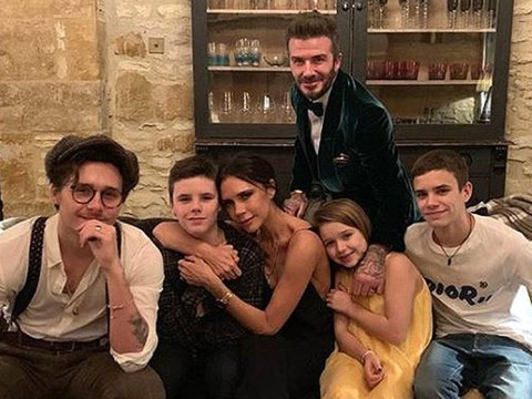 David and Victoria Beckham ring in New Year with adorable family snap and they all look dapper