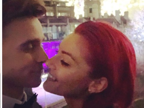 Joe Sugg goes in for New Year's kiss with Dianne Buswell in adorable snap as they're reunited