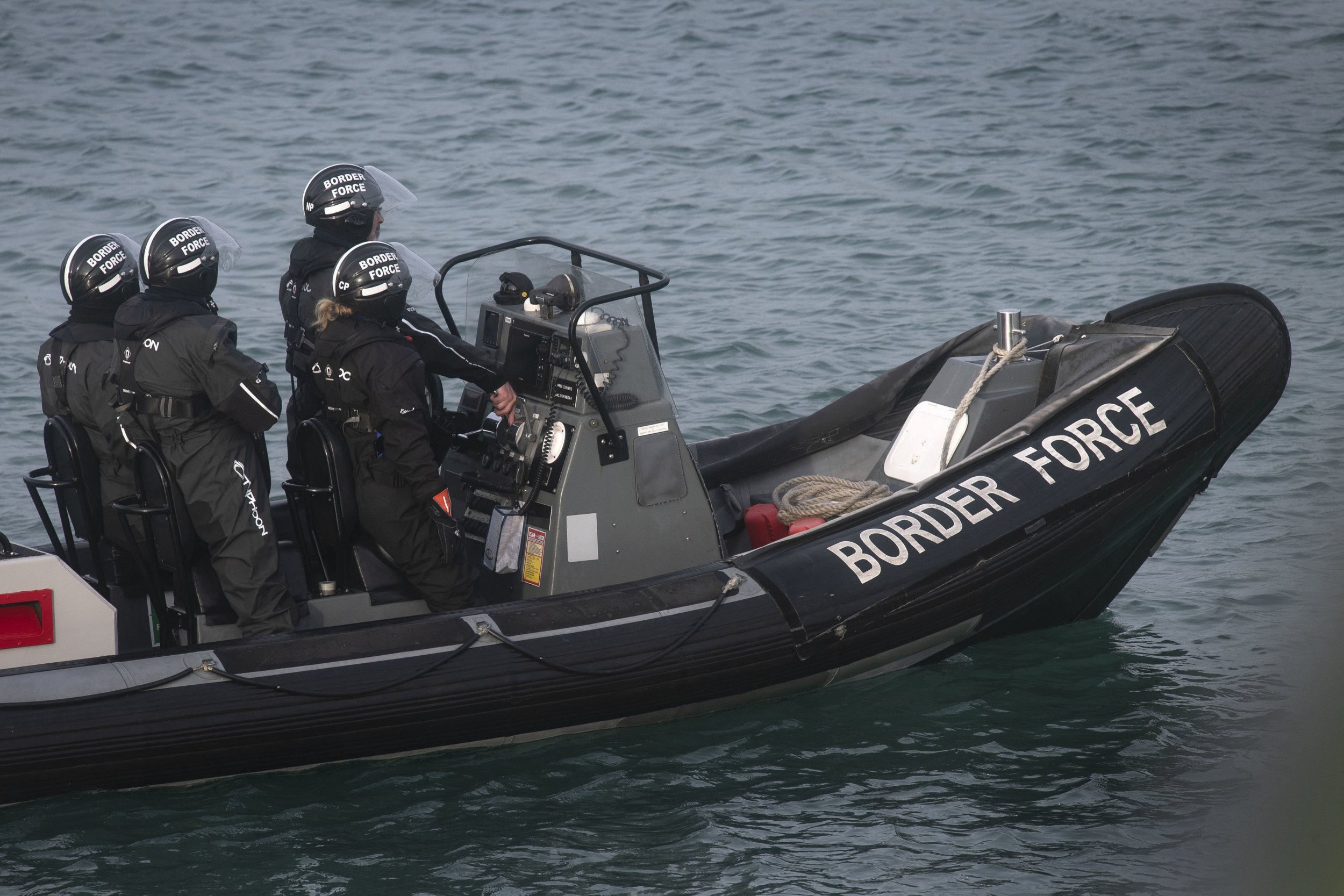 "A Border Force RIB on patrol in Dover Harbour. PRESS ASSOCIATION Photo. Picture date: Saturday December 29, 2018. Home Secretary Sajid Javid is cutting short a family holiday to deal with the ""major incident"" of a rising number of migrants attempting to cross the English Channel by boat, Ms Nokes has said. See PA story POLITICS Migrants. Photo credit should read: Victoria Jones/PA Wire"