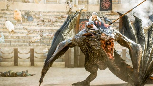 What are the names of Daenerys Targaryen's three dragons