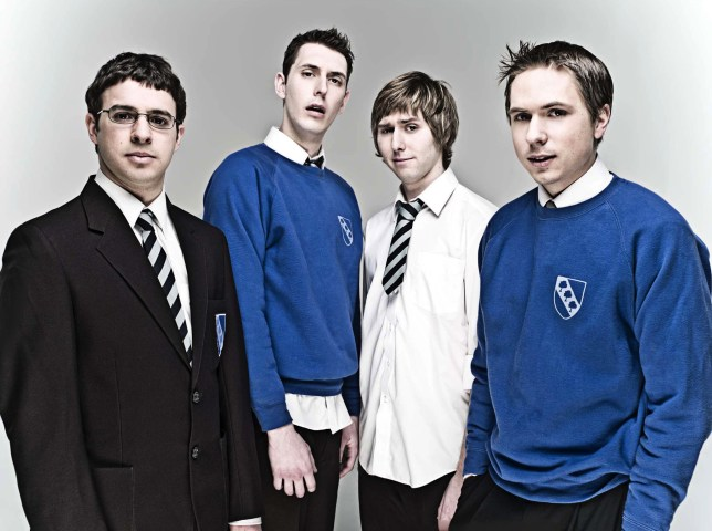 SIMON BIRD, BLAKE HARRISON, JAMES BUCKLEY & JOE THOMAS Character(s): Will McKenzie, Neil Sutherland, Jay Cartwright, Simon Cooper Television 'THE INBETWEENERS' (2008) 01 May 2008 SAB7536 Allstar/E4 **WARNING** This Photograph is for editorial use only and is the copyright of E4 and/or the Photographer assigned by the TV or Production Company & can only be reproduced by publications in conjunction with the promotion of the above TV Programme. A Mandatory Credit To E4 is required. The Photographer should also be credited when known. No commercial use can be granted without written authority from the TV Company.