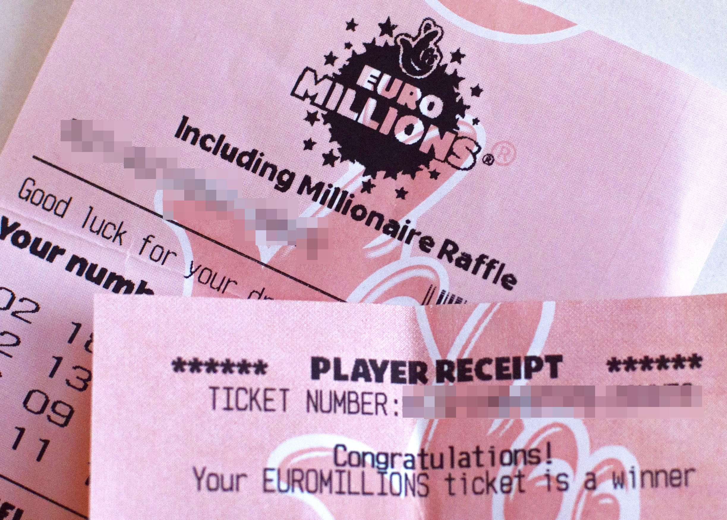 Mandatory Credit: Photo by Katherine Balmer/REX/Shutterstock (4078158b) EuroMillions ticket EuroMillions tickets - 2014