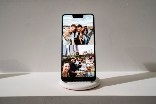 NEW YORK, NY - OCTOBER 9: The new Google Pixel 3 XL smartphone is displayed during a Google product release event, October 9, 2018 in New York City. The phones will go on sale on October 18 for a base starting retail price of $799 for the Pixel 3 and $899 for the Pixel 3 XL. Google also released a new tablet called the Pixel Slate and the Google Home Hub. (Photo by Drew Angerer/Getty Images)