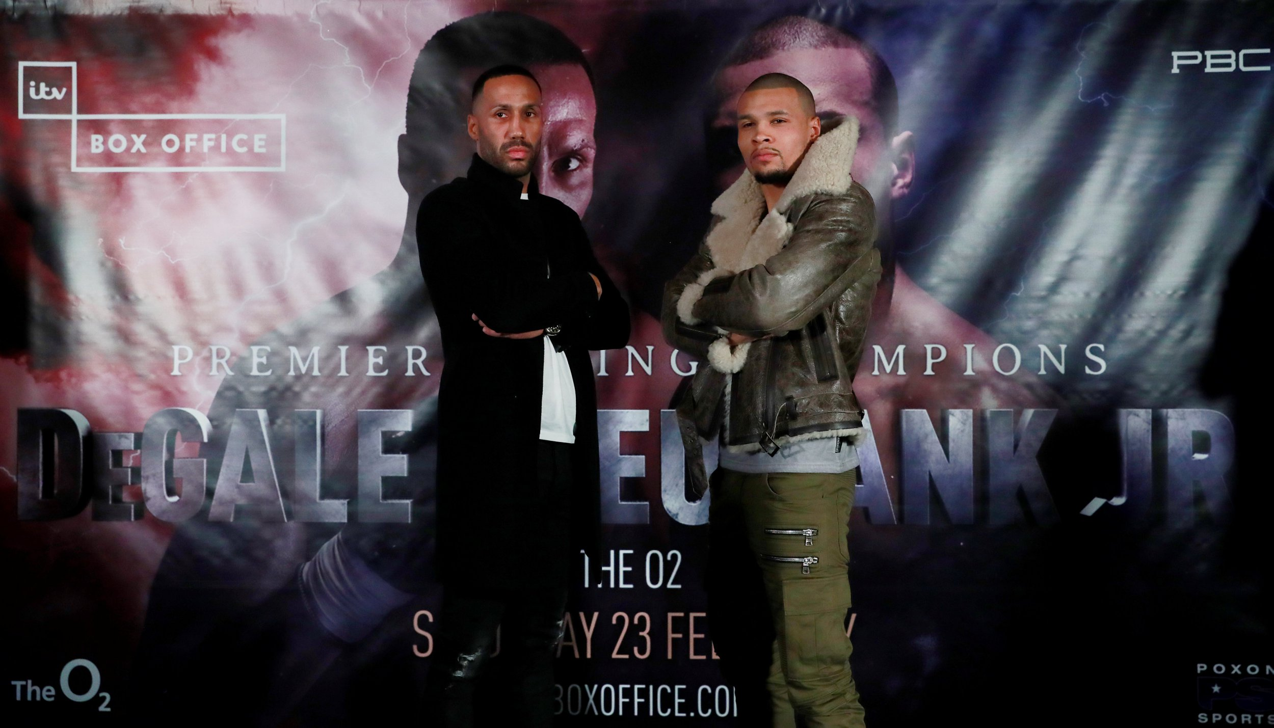 Boxing - James DeGale & Chris Eubank Jr Press Conference - Hotel Cafe Royal, London, Britain - January 3, 2019 James DeGale and Chris Eubank Jr pose during the press conference Action Images via Reuters/Andrew Couldridge