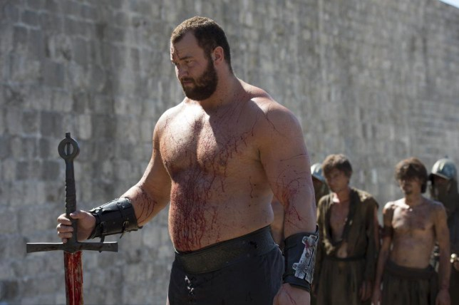 TELEVISION PROGRAMME: GAME OF THRONES THE ACTOR HAFTHOR BJORNSSON - THE MOUNTAIN