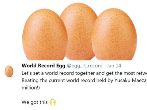 Copycat egg picture tries to steal Twitter record