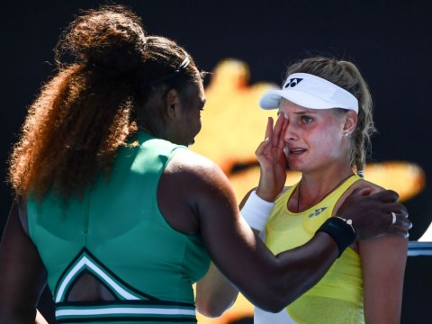 Serena Williams comforts tearful opponent at the net after Australian Open mauling