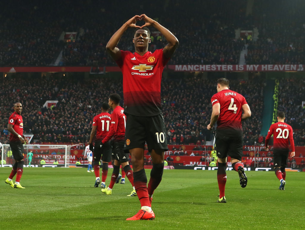 Gareth Southgate discusses Marcus Rashford's best position amid explosive Manchester United form