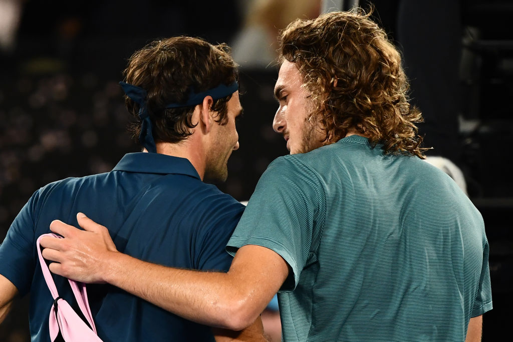 A win over an aging Roger Federer won't see a changing of the guard for Stefanos Tsitsipas just yet