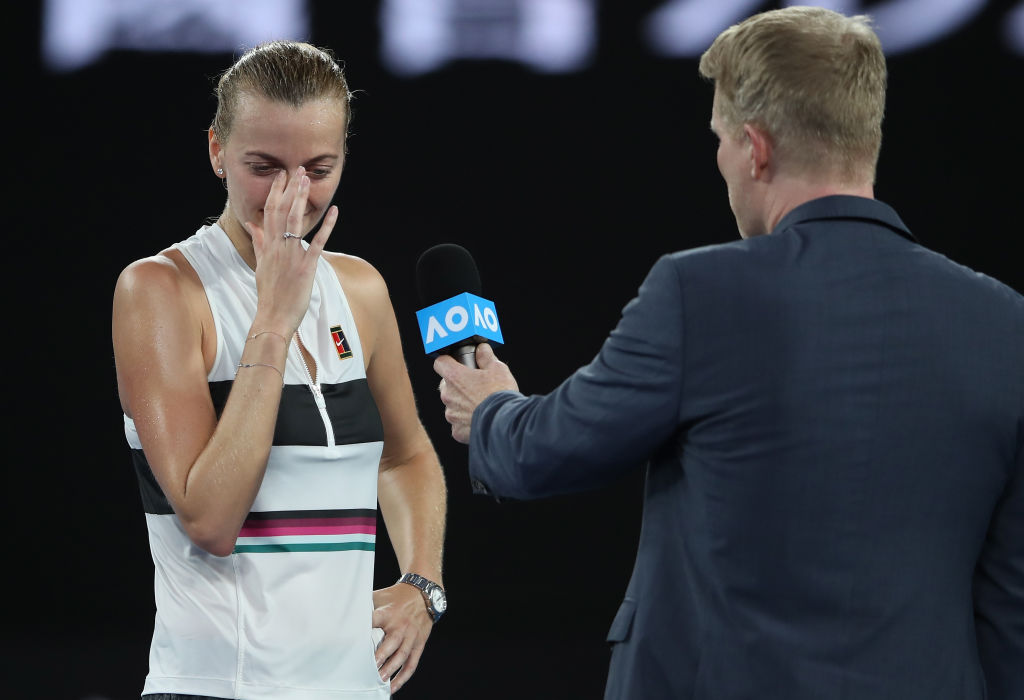 Petra Kvitova fights back tears in emotional interview after reaching Australian Open semi-finals