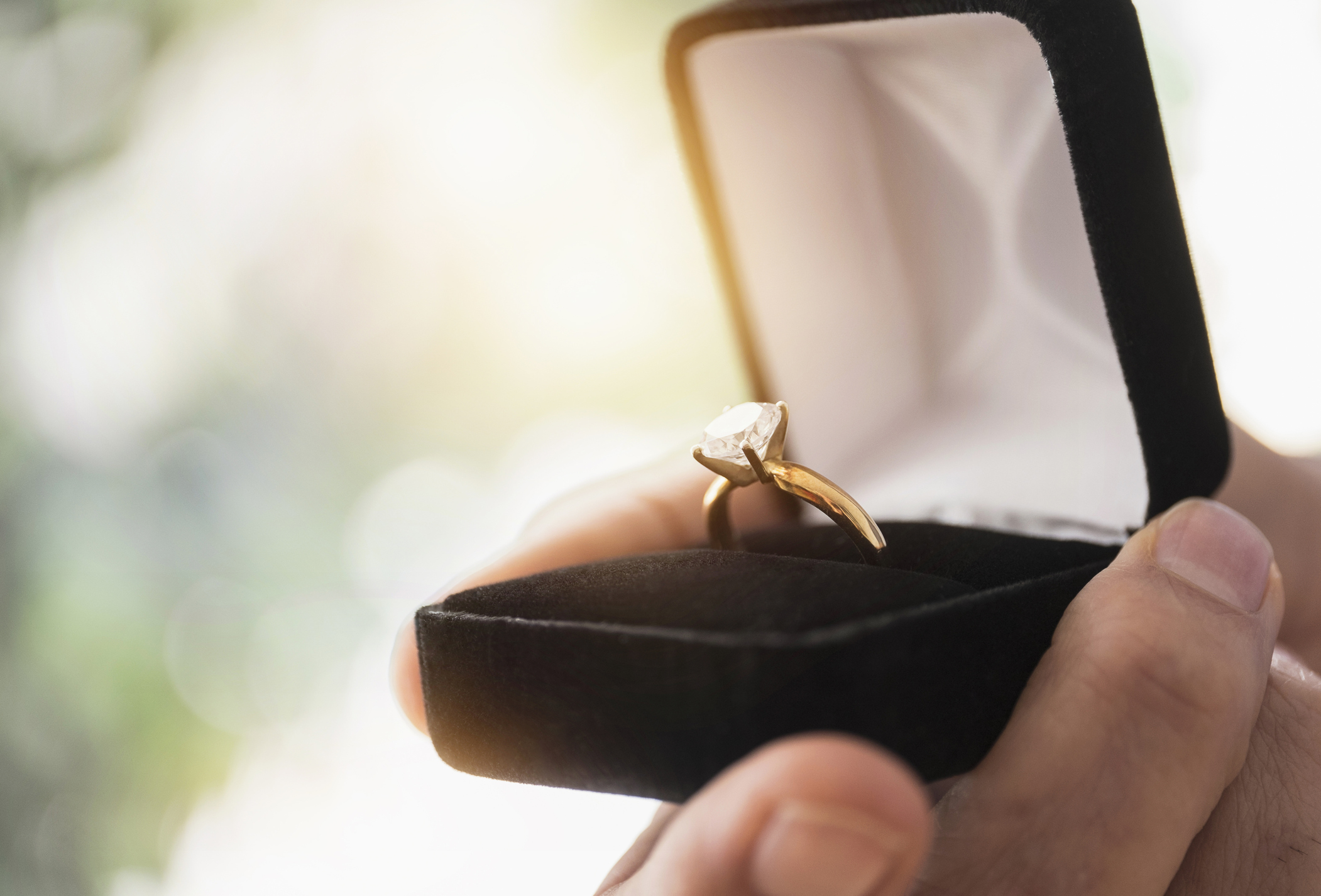man proposing with ring