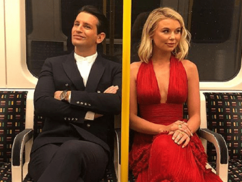 Ollie Locke and Georgia Toffolo take the tube to the National Television Awards but they're still fancy AF