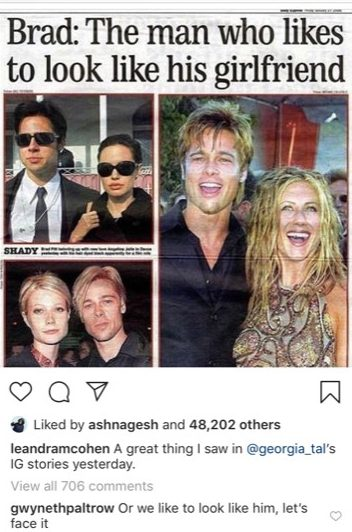 Brad Pitt dating Gwyneth Paltrow