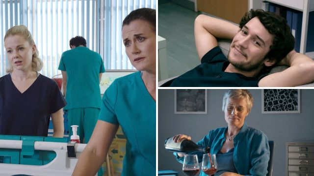 Ange was under serious pressure in Holby City