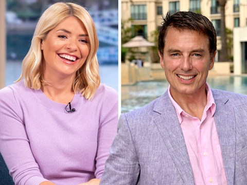 I'm A Celebrity reunion for Holly Willoughby and John Barrowman as he joins her as This Morning host