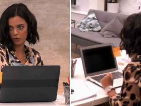 The Greatest Dancer receptionist has had her laptop on the whole time as mystery solved over blank screen