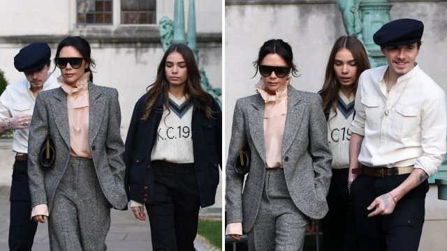 Brooklyn Beckham's new girlfriend Hanna Cross and mum Victoria look like sisters at London Fashion Week