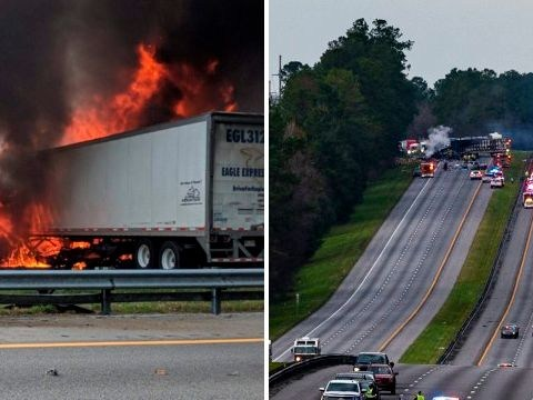 Horrific moment 5 kids headed to Disney World die in huge fireball