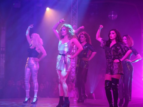 Gals Aloud, a tribute drag act to the girl band, are touring the country