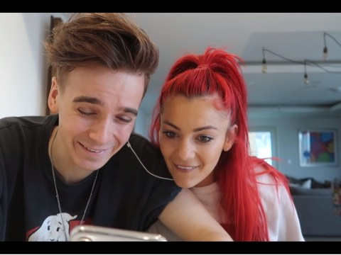 Joe Sugg and Dianne Buswell joke about their 'weird Kama Sutra moves'  in YouTube video