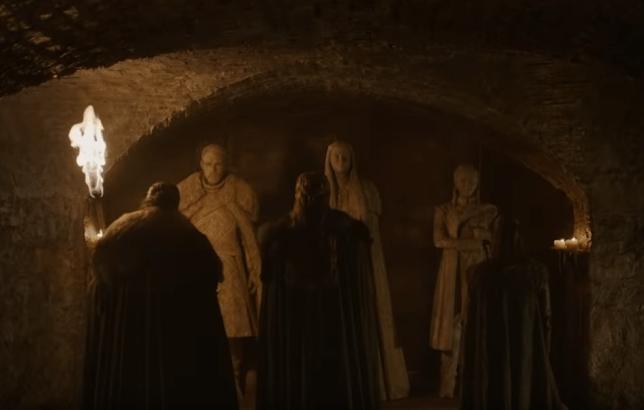 Jon, Sansa and Arya meet their statues in Game of Thrones S8 teaser