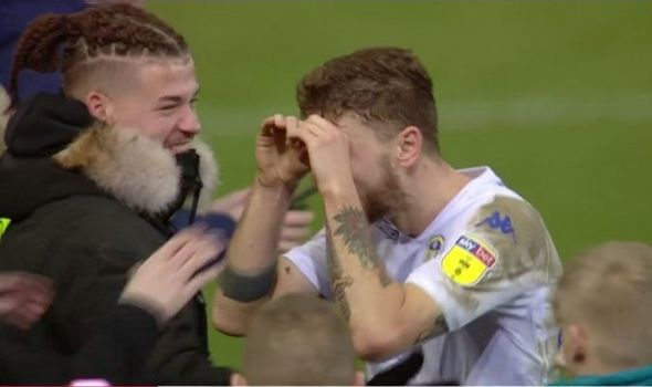 Leeds star Mateusz Klich performs 'spying' celebration after win over Derby