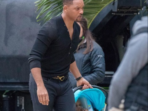 Will Smith has a baby on board as he arrives on the Atlanta set of Bad Boys For Lif3 for filming